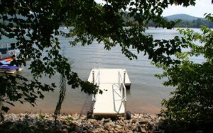Building lot in Hiawassee Georgia with boat dock and lake access.